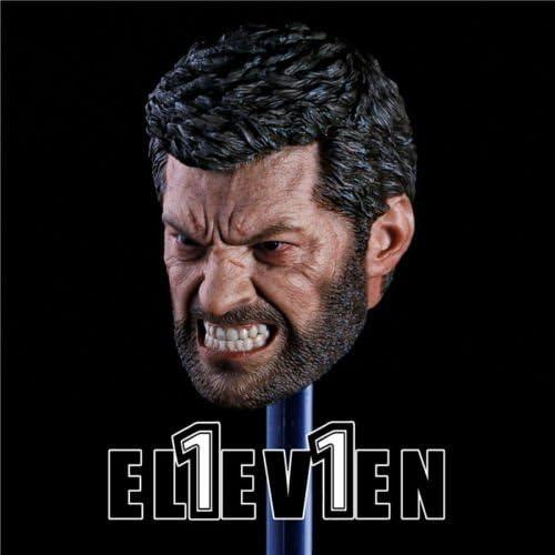 """Eleven 1//6 Wolverine di Hugh Jackman Angry LOGAN TESTA SCOLPIRE F 12/"""" FIGURA MASCHILE"""