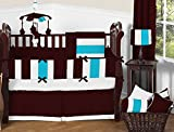 Nursery Baby Patchwork Cradle Bedding Set 100% Egyptian Cotton 300 TC 3-Piece Set Fitted Sheet, Comforter,Bumper (Wine/Turquoise,Cradle)