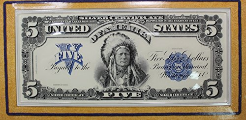 51JAY8xuqSL - 2001 The American Buffalo Coin and Currency Set With Stamp and replica Silver 5 dollar Certificate. No Coin! .