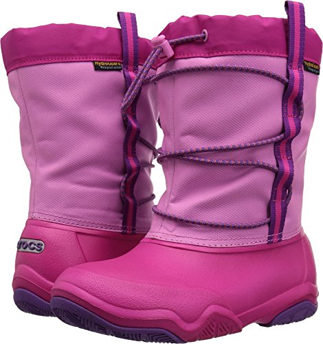 Crocs Kids' Swiftwater Waterproof K Snow Boot, Party Pink/Candy Pink, 8 M US Toddler