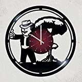 FALLOUT GAME Vinyl Record Wall Clock - room wall decor - Art Gift Modern Home Record Vintage Decoration Gift For Him and Her - gift for fan gifts for boys man girls women you prime birthday
