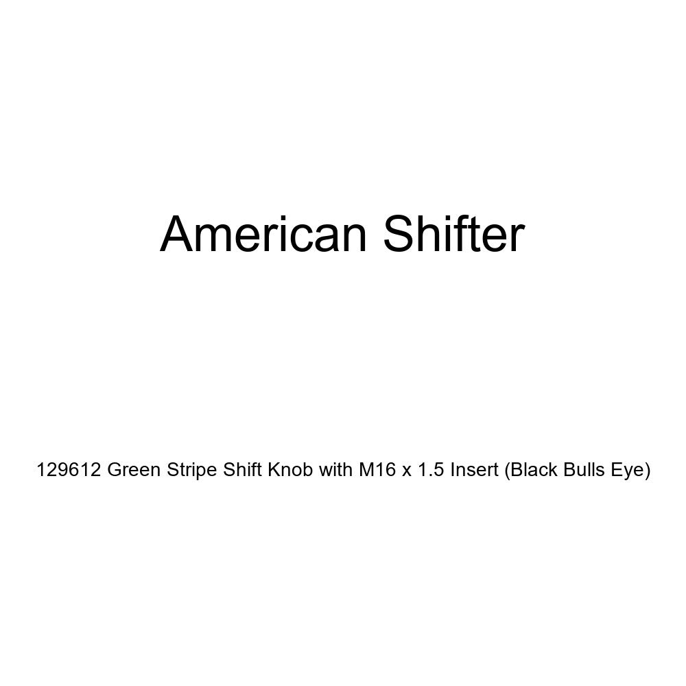 American Shifter 129612 Green Stripe Shift Knob with M16 x 1.5 Insert Black Bulls Eye