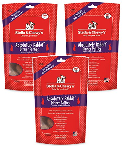 Stella & Chewy's Freeze Dried Dog Food for Adult Dogs, Rabbit, 15 Ounce Bag (3 Pack) For Sale
