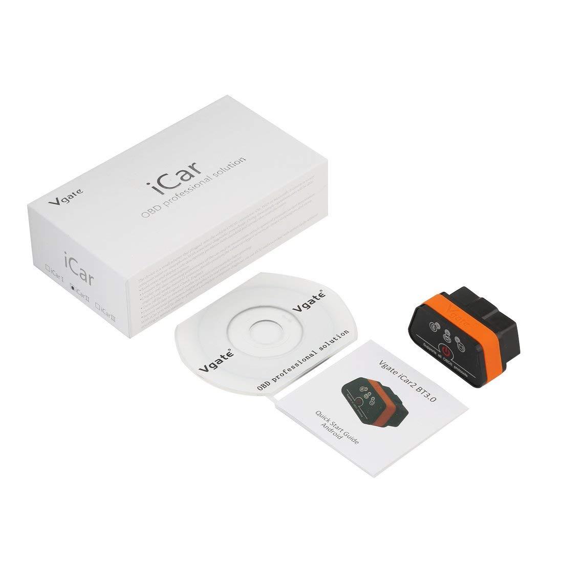 Lector de có digo Bluetooth Vgate iCar2 Disponible Bluetooth Auto OBDII Vgate iCar 2 Tipo Bluetooth Adaptador pequeñ o con 6 Colores Formulaone