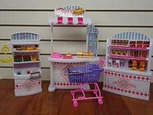 barbie size dollhouse furniture supermarket shopping cart veggie amazoncom barbie size dollhouse