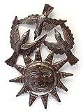 Garden Birds and Sun Decor, Recycle Metal Art, Haitian Metal 8