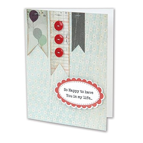 Doodle Dies (Sizzix Framelits Dies with Clear Stamps by Doodlebug, Frames, 4-Pack)