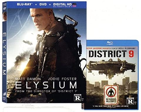 ELYSIUM / DISTRICT 9 Exlcusive Blu-ray 2-pack (Both AWESOME Movies Together) Matt Damon, Jodie Foster, Sharto (Planet Of Apes 2 Pack)