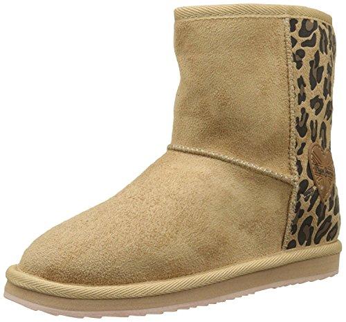 Niñas Angel Jeans Pepe para Leopard Beige Botas cO0nBWvS