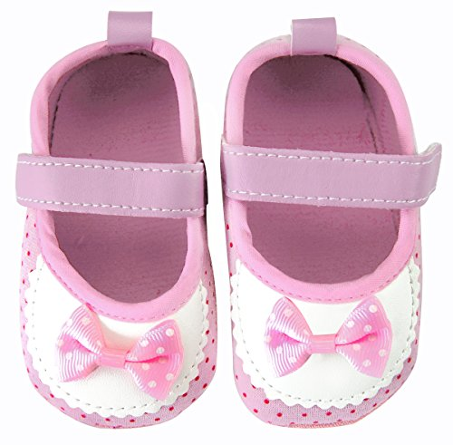 axy Baby Stoff Krabbelschuhe Babyschuhe 0 bis 12 Monate - Little Princess - Pink BS4-2