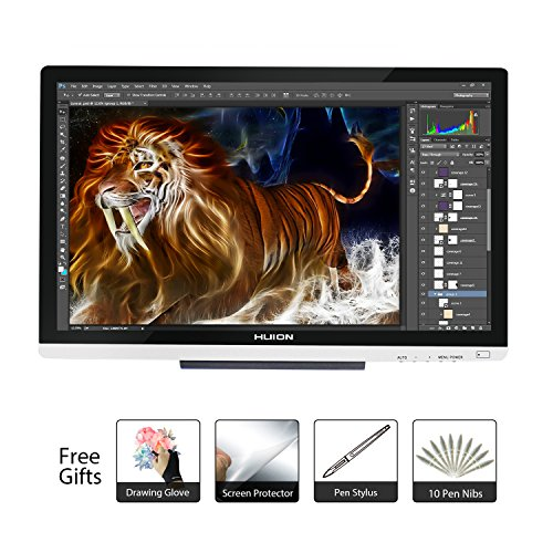 Huion 21.5 Inch Pen Display IPS Interactive Pen Monitor Graphics Monitor for Windows and Mac—GT-220 V2 Silver by Huion