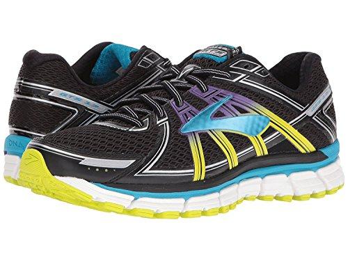 Brooks Adrenaline GTS 17, Zapatos Para Correr Para Mujer Black/Hawaiian Ocean/Lime Punch