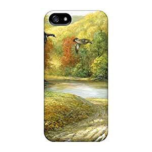 Hot SjOzBod5827itZHP Forest Mural Tpu Case Cover Compatible With Iphone 5/5s