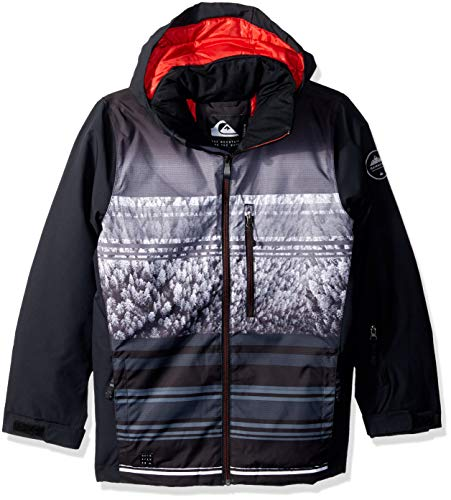 Quiksilver Boys' Big Mission Engineered Youth 10K Snow Jacket, Black Alpine, (Best Quiksilver Snow Jackets)