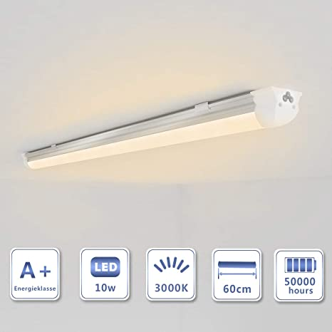 OUBO LED Leuchtstoffröhre komplett 60cm T8 Tube Röhrenlampe  Leuchtstofflampe Warmweiß 10W 1150lm