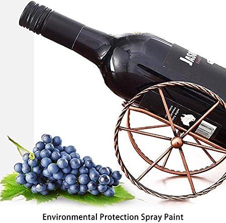 PUMYPOREITY Soporte de metal para botellas de vino, estilo vintage, con forma de rueda, soporte de vidrio para barra de hogar, estante de vino, decoración de mesa