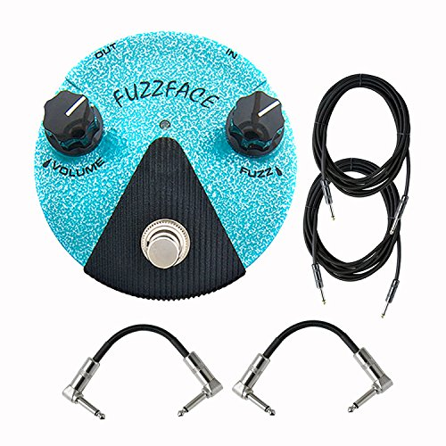 Dunlop FFM3 Jimi Hendrix Fuzz Face Mini Distortion Effects Pedals With a Pair of Patch Cables and Instrument Cables