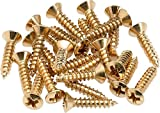 Fender Pickguard/Control Plate Mounting Screws - Gold