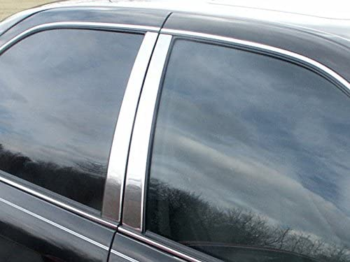 QAA fits 1997-2001 Toyota Camry 6 Piece Stainless Pillar Post Trim PP97131