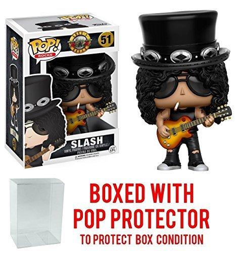 Funko Pop! Rocks: Guns N' Roses Slash Vinyl Figure (Bundled with Pop BOX PROTECTOR CASE)