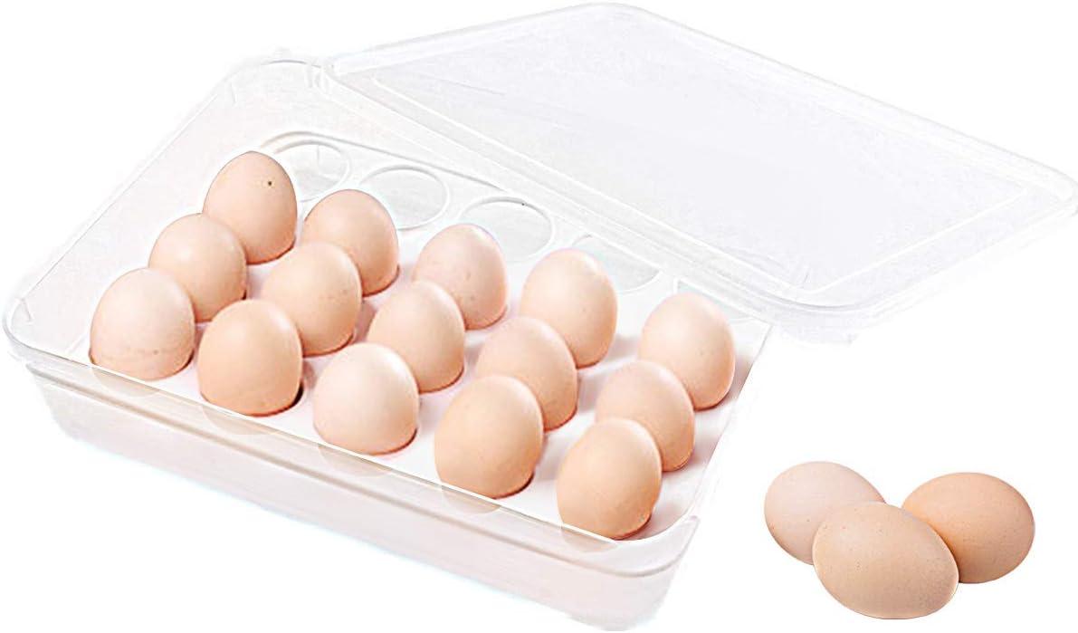 Hooshion Wooden Egg Holder Egg Tray for 30 Eggs Egg Storage Container Egg Holder for Refrigerator