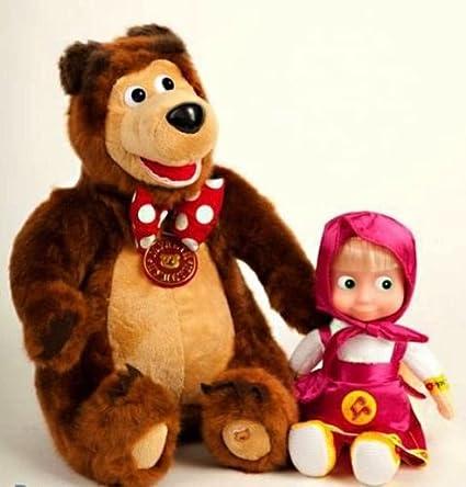 Amazon.com: Montón de 2, Masha y el oso, dos Talking ...