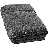 Utopia Towels - Soft Cotton Machine Washable Extra Large Bath Towel (35-Inch-by-70-Inch) - Luxury Bath Sheet - Dark Gray