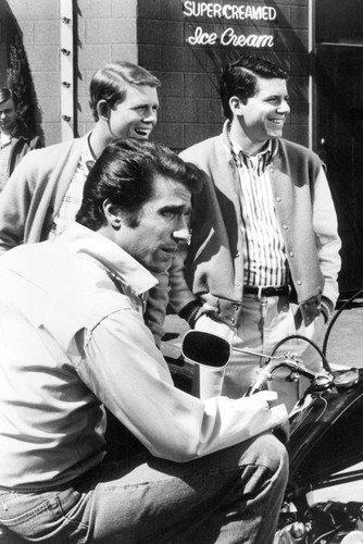 Happy Days Henry Winkler On Motorbike Cast 11x17 Mini Poster