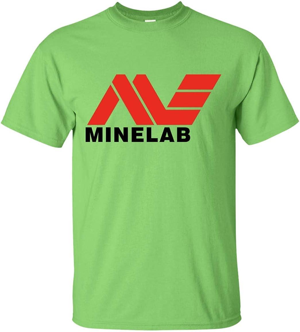 teelaunch Minelab - Camiseta con Logo de Detección de Metal, Color Negro - Blanco - Medium: Amazon.es: Ropa y accesorios