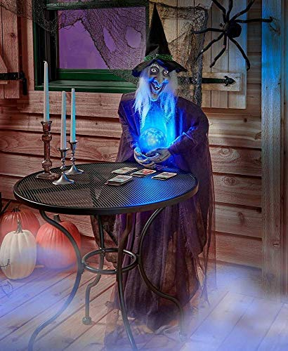 JedaJeda Home Decor Life-Size Halloween Psychic Witch Evil Reaper Creatures -
