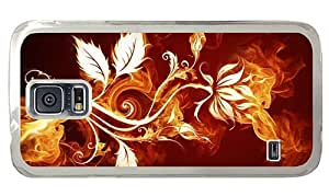 Hipster Samsung Galaxy S5 Case buy Fire Leaves Art PC Transparent for Samsung S5