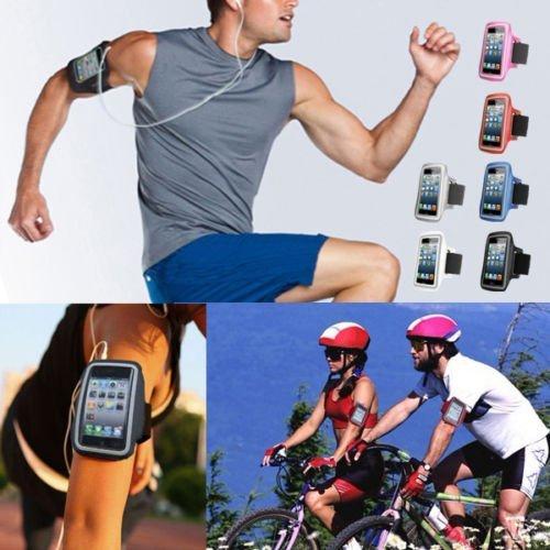 Waterproof Sport Gym Running Armband Case Cover Bag For Smart Mobile Phones (ZTE Warp Sync N9515 , Black )