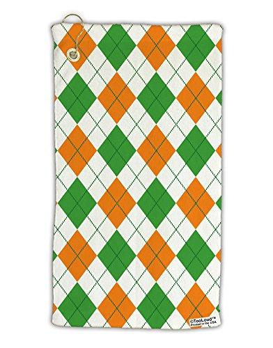 Argyle Golf Towel - TooLoud Irish Colors Argyle Pattern Micro Terry Gromet Golf Towel 15