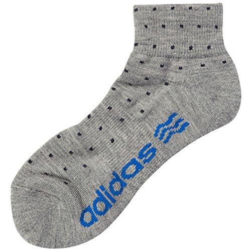 adidas(アディダス) ゴルフ アクセサリー 靴下 カジュアルショートソックス メンズ グレー XW943-A08723