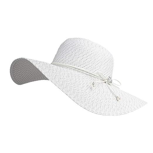 Sombreros Gorras Visera Pescador Playa Paja para Dama Gorra De ...
