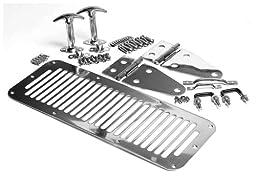 Smittybilt 7499 Stainless Steel Complete Hood Kit