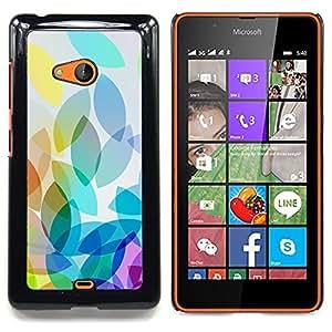 For Nokia Lumia 540 Case , Manzana colorida luz brillante Blanco - Diseño Patrón Teléfono Caso Cubierta Case Bumper Duro Protección Case Cover Funda