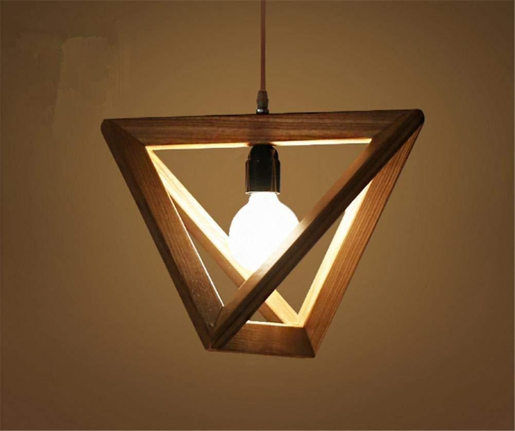 FuweiEncore Massivholz führte dreieckigen Kronleuchter minimalistischen kreative Lounge die Schlafzimmer Esszimmer Holz elektrische Glühbirnen (Farbe   -, Größe   -)