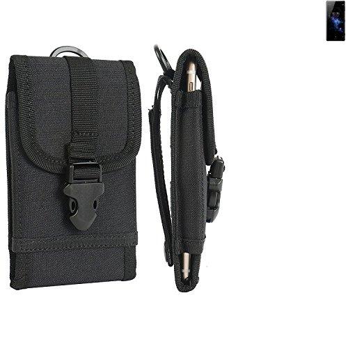 bolsa del cinturón / funda para Sony Xperia XZ2, negro   caja del teléfono cubierta protectora bolso - K-S-Trade (TM)