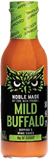 product image for Noble Made by The New Primal Mild Buffalo Dipping & Wing Sauce, Whole30 Approved, Paleo, Keto, Vegan, Gluten and Dairy Free, Sugar and Soy Free, Low Carb and Calorie, 12 Oz Glass Bottle