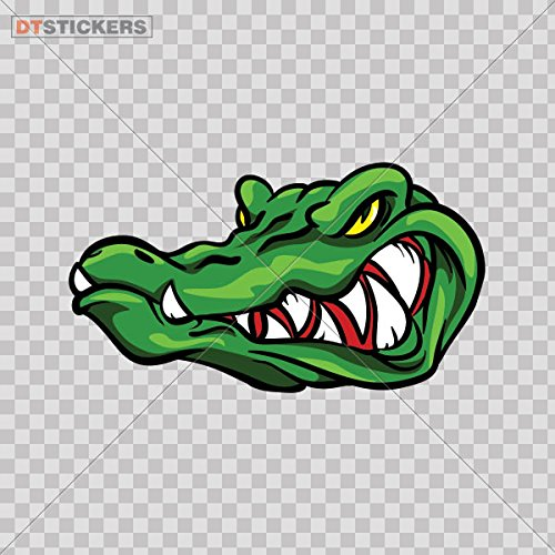 Decoration Vinyl Sticker Gator Alligator Decoration Motorbike (4 X 2,21 In. ) Fully Waterproof Printed vinyl (Cool Swamp Gator)