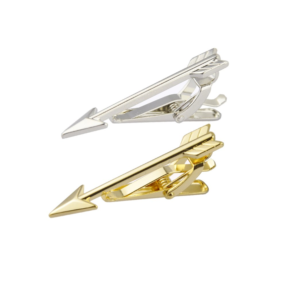 MeShow TCSHOW 1.77inch Lovely Cupids Arrow Tie Clip Tie Bar Gift Box