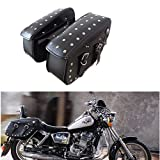 Pair Motorcycle PU Leather Travel Saddle Pannier Bag Helmet Pack L Size ON SALES