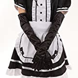 [ps.j] wedding gloves costume the satin gloves (black)