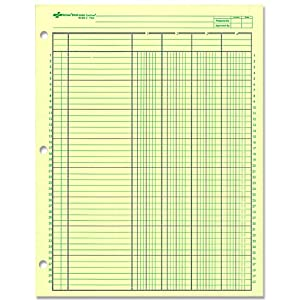 national analysis pad 4 columns green paper 11 x 8 5 50 sheets 45604. Black Bedroom Furniture Sets. Home Design Ideas