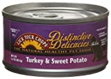 Lick Your Chops Distinctive Delicacies Turkey and Sweet Potato for Cats, 3-Ounce Cans (Pack of 24), My Pet Supplies