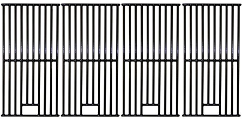 Music City Metals 66144 Gloss Cast Iron Cooking Grid Replacement for Gas Grill Cook SRGG61401 (Set of 4)