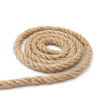 cuerda gruesa y resistente de yute natural de 10 metros 4 capas cuerda perfecta - Cuerda De Yute