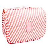 Ac.y.c Makeup Cosmetic Bag Toiletry Travel Kit Organizer-Multi-Function Cute Printed Pouch for Little Young Girl (Pink)