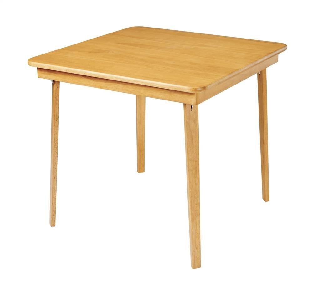 Incroyable Amazon.com: Stakmore Straight Edge Wood Folding Card Table Warm Oak Finish  Fold Mechanism: Kitchen U0026 Dining